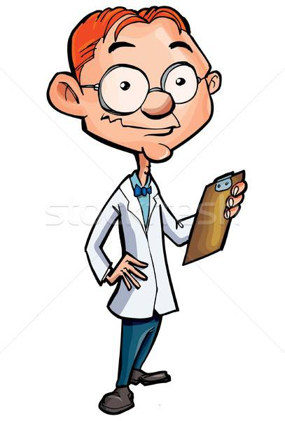 Cartoon of a nerdy doctor Stock photo © antonbrand