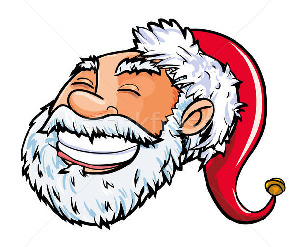 Cartoon smiling Santa head. Stock photo © antonbrand