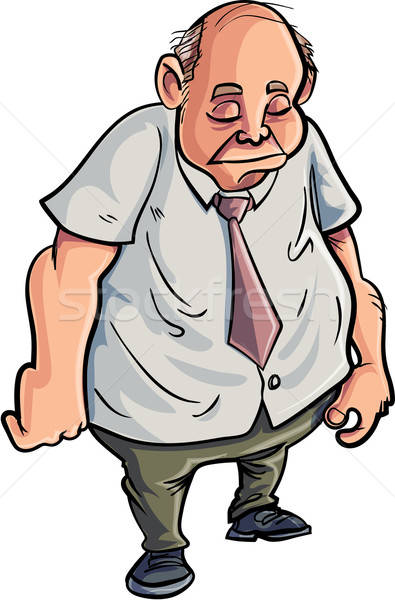 Cartoon overweight man looking very sad Stock photo © antonbrand