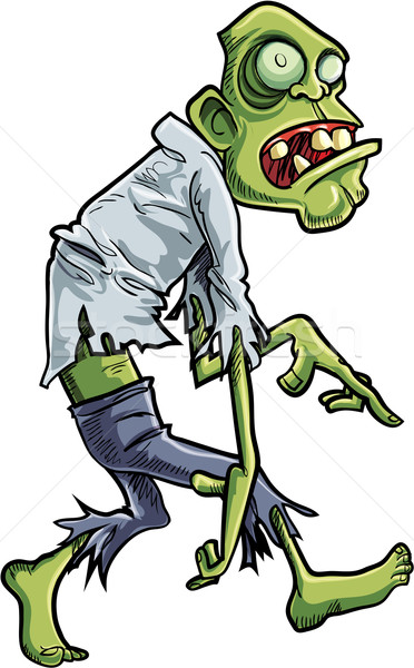 Cartoon stalking zombie with big eyes Stock photo © antonbrand
