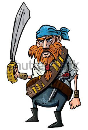 Stock photo: Cartoon viking
