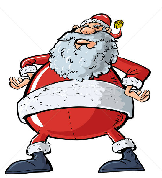 Cartoon Santa with a big belly Stock photo © antonbrand