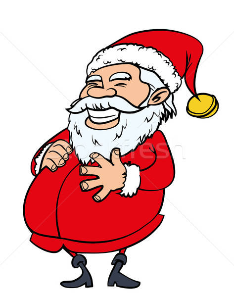 Happy Santa with a big belly Stock photo © antonbrand