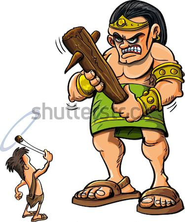 Cartoon Viking with a sword Stock photo © antonbrand