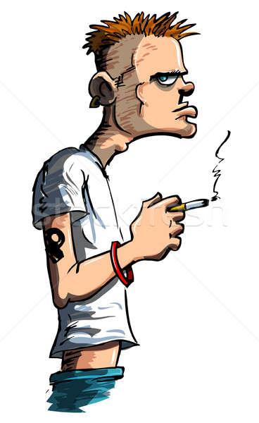 代 たばこ 悪い 態度 若者 白 ストックフォト © antonbrand