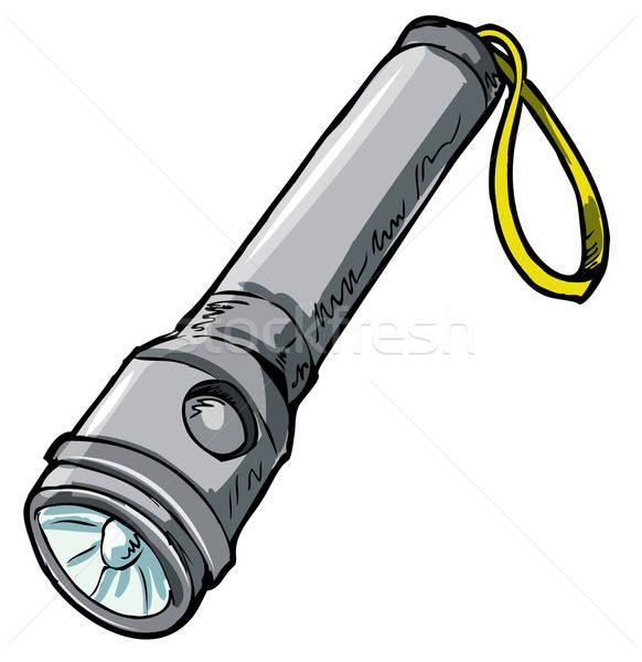 実例 懐中電灯 孤立した 白 色 電気 ストックフォト © antonbrand
