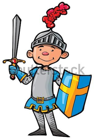 Cartoon Roman Legionary Stock photo © antonbrand