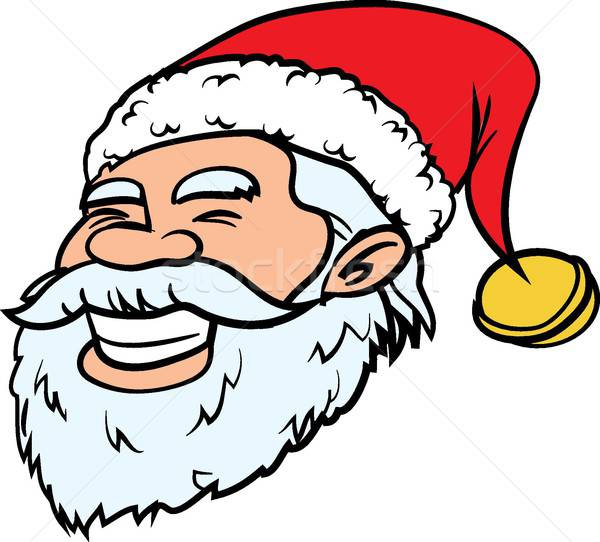 Cartoon smiling Santa head Stock photo © antonbrand