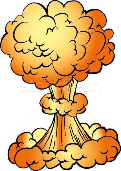 Cartoon nuclear explosion Stock photo © antonbrand
