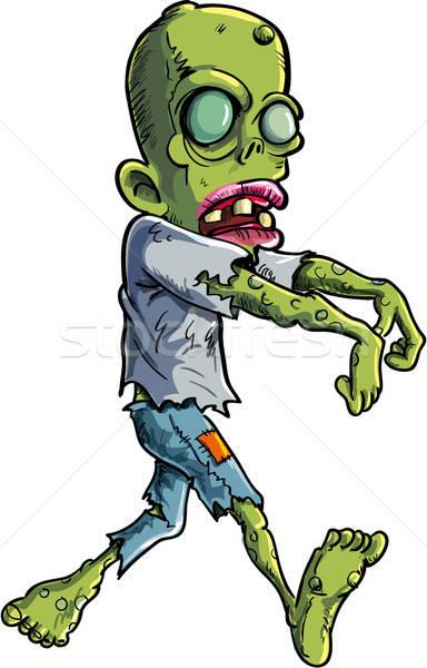 Cartoon зомби одежды изолированный белый мертвых Сток-фото © antonbrand