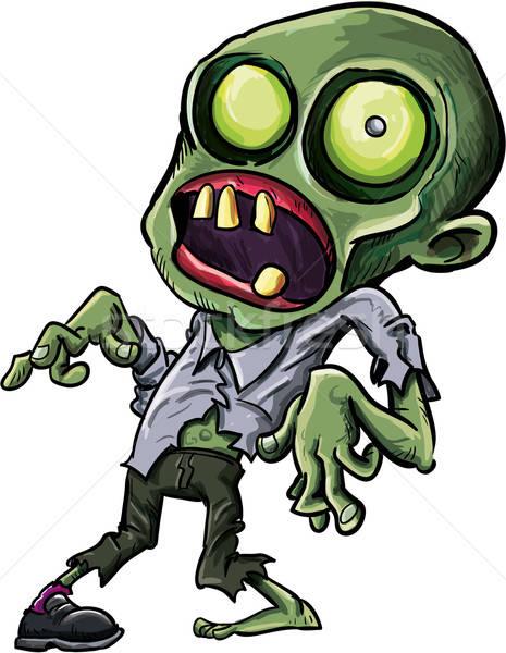 Vector illustration of a cartoon zombie Stock photo © antonbrand