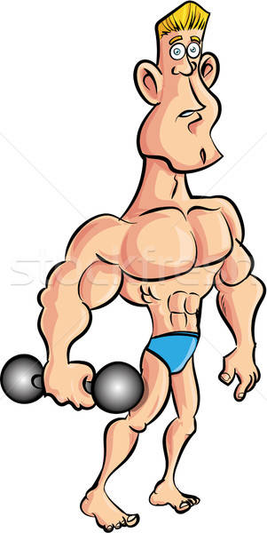 Cartoon campana aislado fitness poder Foto stock © antonbrand