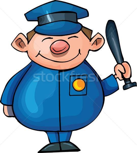 Cute Cartoon policeman Stock photo © antonbrand