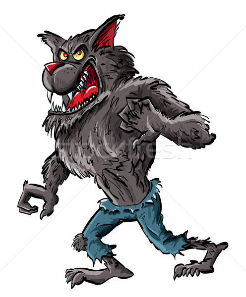 Cartoon werewolf with claws and teeth Stock photo © antonbrand
