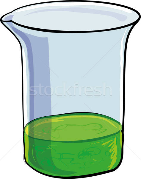 Beaker of evil green sludge Stock photo © antonbrand