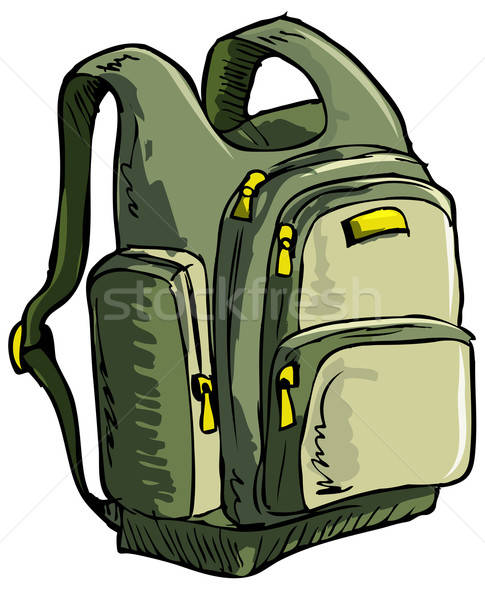 Illustration of a backpack Stock photo © antonbrand