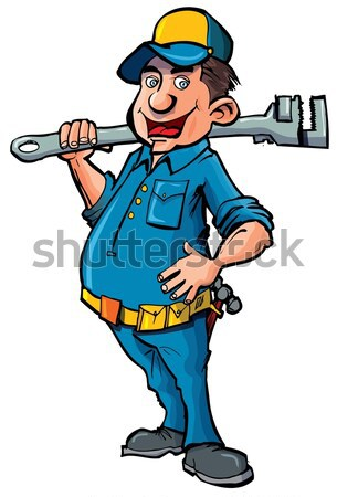 Cartoon cowboy with a gun belt Stock photo © antonbrand