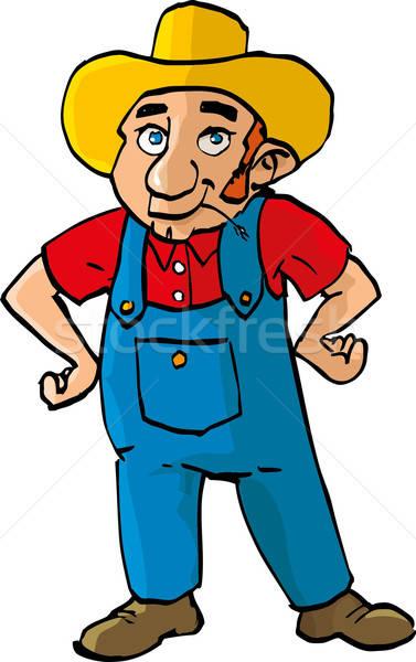 Cartoon farmer with dungarees Stock photo © antonbrand