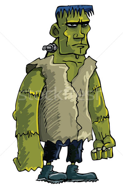 Cartoon green Frankenstein monster Stock photo © antonbrand