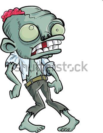 Cartoon zombie police woman Stock photo © antonbrand