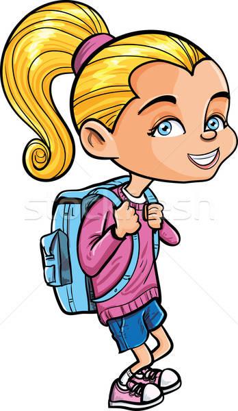 Cute cartoon isolé blanche école Photo stock © antonbrand