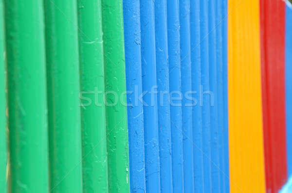 Színes kerítés tavasz absztrakt terv háttér Stock fotó © antonihalim