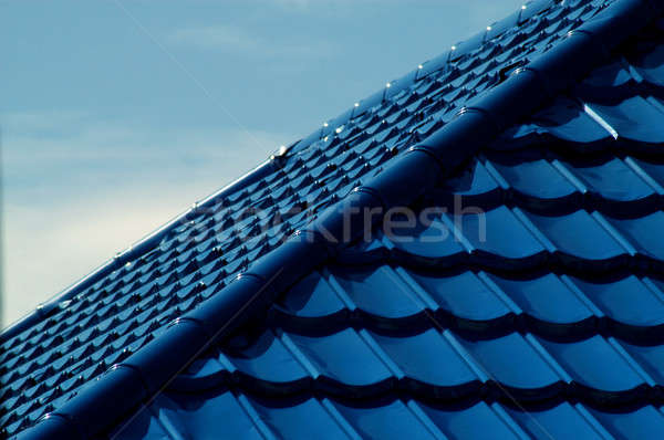 pattern of blue roof tiles Stock photo © antonihalim