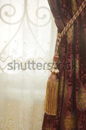 orange and yellow curtain Stock photo © antonihalim