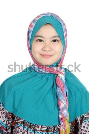 肖像 アジア 若い女性 医師 白 笑顔 ストックフォト © antonihalim