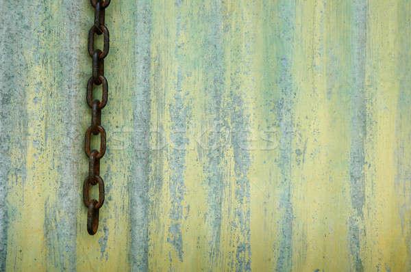 öreg cink textúra építkezés fal technológia Stock fotó © antonihalim