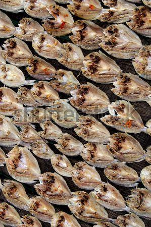 patterns of dried fish Stock photo © antonihalim