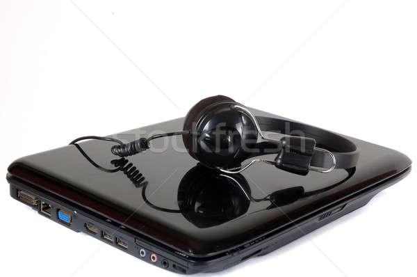 headphones and laptop Stock photo © antonihalim