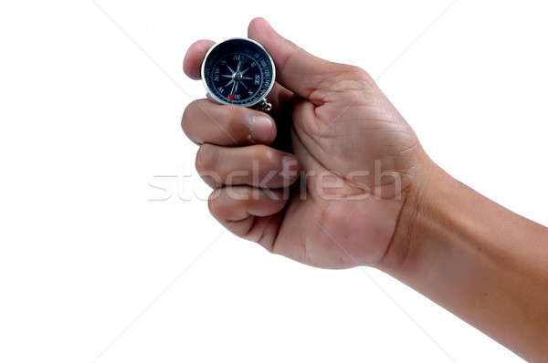 man's hand holding a compass  Stock photo © antonihalim
