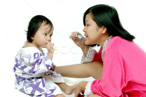 Teaching toothbrush Stock photo © antonihalim