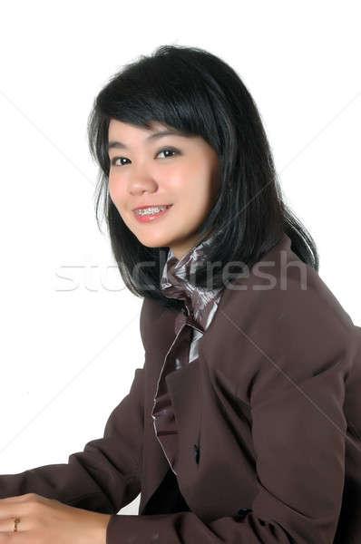 portrait  young secretary's office   Stock photo © antonihalim