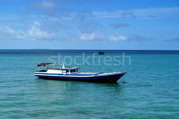 Csónak dokk perem tenger part víz Stock fotó © antonihalim