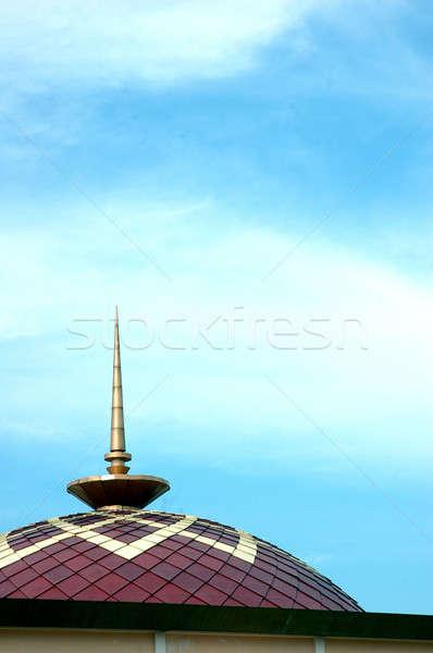 ストックフォト: ドーム · モスク · 青空 · 空 · 市 · 旅行