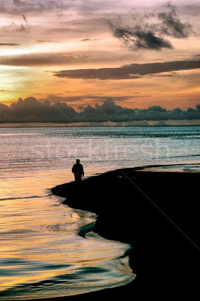 徒歩 だけ 午前 空 日没 自然 ストックフォト © antonihalim