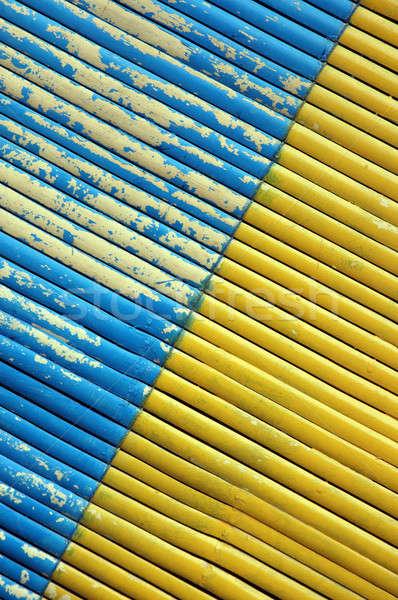 2 色 対角線 竹 カーテン 木材 ストックフォト © antonihalim