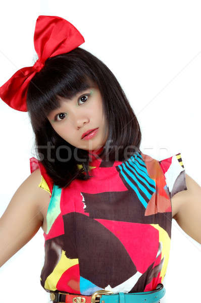 attractive young woman Stock photo © antonihalim