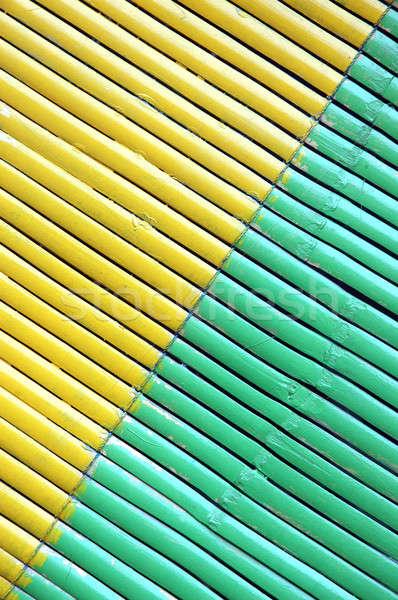 ストックフォト: 2 · 色 · 対角線 · 竹 · カーテン · 木材