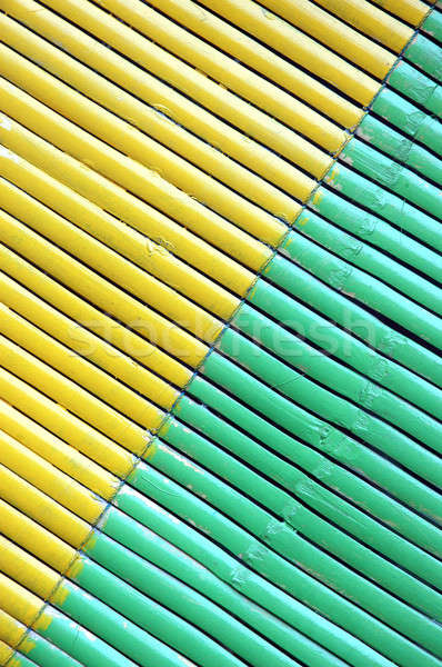 two color diagonal on bamboo curtain Stock photo © antonihalim