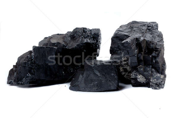 Stock photo: lumps of coal
