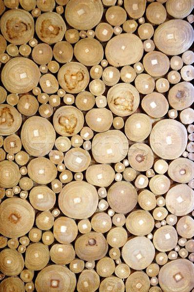 パターン 木材 ピース 森林 抽象的な 背景 ストックフォト © antonihalim