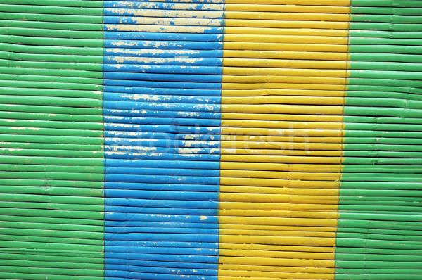 colorful bamboo curtain Stock photo © antonihalim