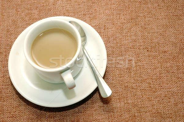 Csésze kávé textúra ital kávézó fekete Stock fotó © antonihalim