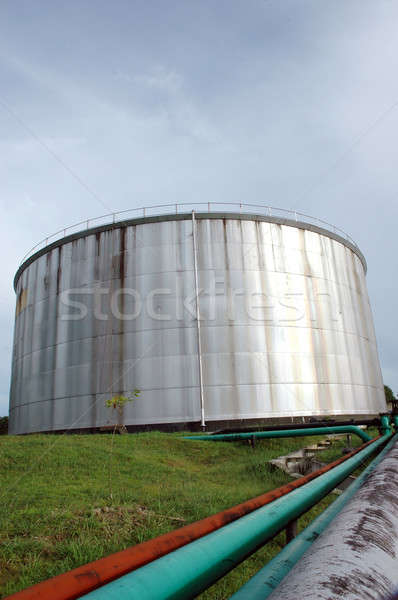 crude oil storage tank Stock photo © antonihalim