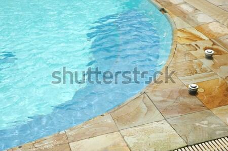 スイミングプール コーナー プール 水 海 ホーム ストックフォト © antonihalim