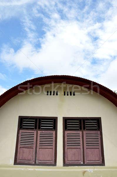 brown old wooden windows Stock photo © antonihalim