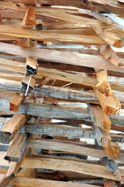 Brandhout textuur hout industrie energie Stockfoto © antonihalim
